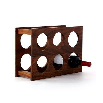 ที่วางขวดไวน์ 6 ช่องทำจากไม้